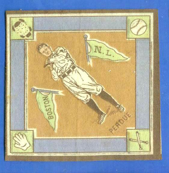 1914 B18 Blankets #53B Hub Perdue (brown infield) (Boston Braves) Baseball cards value