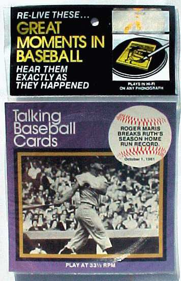 #10 Roger Maris - 1970's 'Great Moments..Baseball' 33-1/3 Record SEALED Baseball cards value