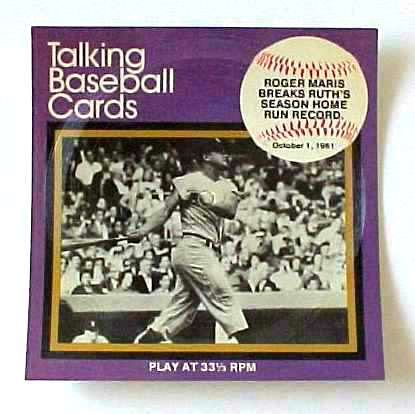 #10 Roger Maris - 1970's 'Great Moments..Baseball' 33-1/3 Record UNPLAYED Baseball cards value