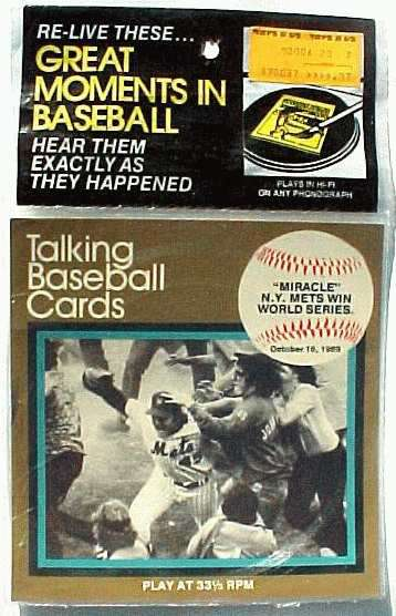 #11 Miracle Mets - 1970's 'Great Moments..Baseball' 33-1/3 Record SEALED Baseball cards value