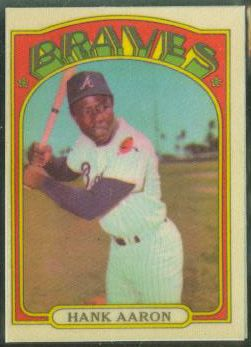 Hank Aaron - 1972 Topps Cloth Sticker (Braves) Baseball cards value