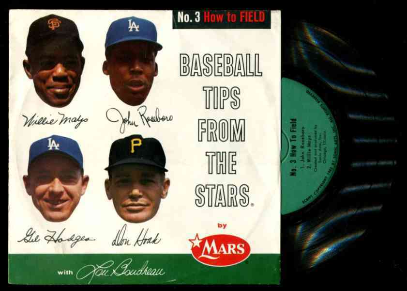 1962 WILLIE MAYS - Mars Record - 'Baseball Tips From Stars - How to Field' Baseball cards value