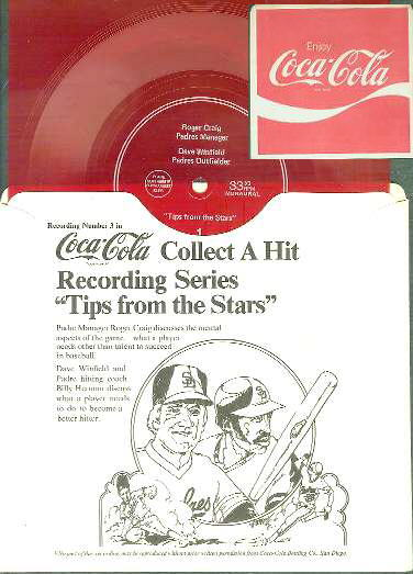 1978/79 Coca-Cola Record #3 - Dave Winfield 'Tips from the Stars' Baseball cards value