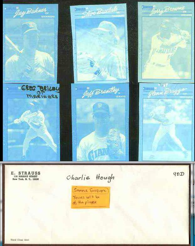 Glenn Braggs - 1990 Donruss RARE Blue Color Paper PROOF Baseball cards value