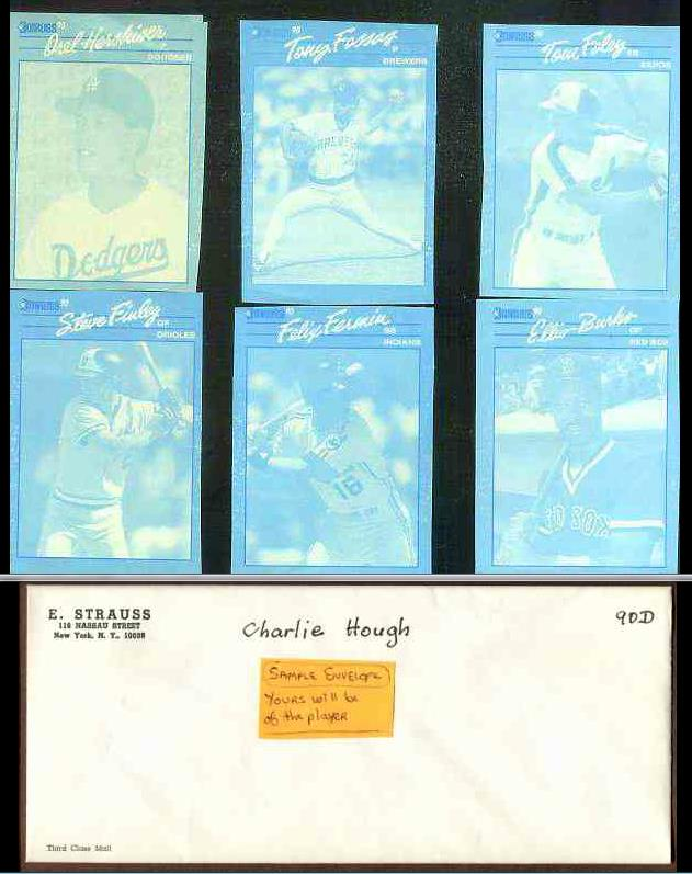 Ellis Burks - 1990 Donruss RARE Blue Color Paper PROOF Baseball cards value