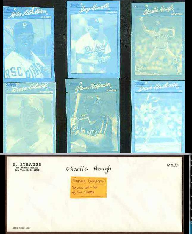 Charlie Hough - 1990 Donruss RARE Blue Color Paper PROOF Baseball cards value