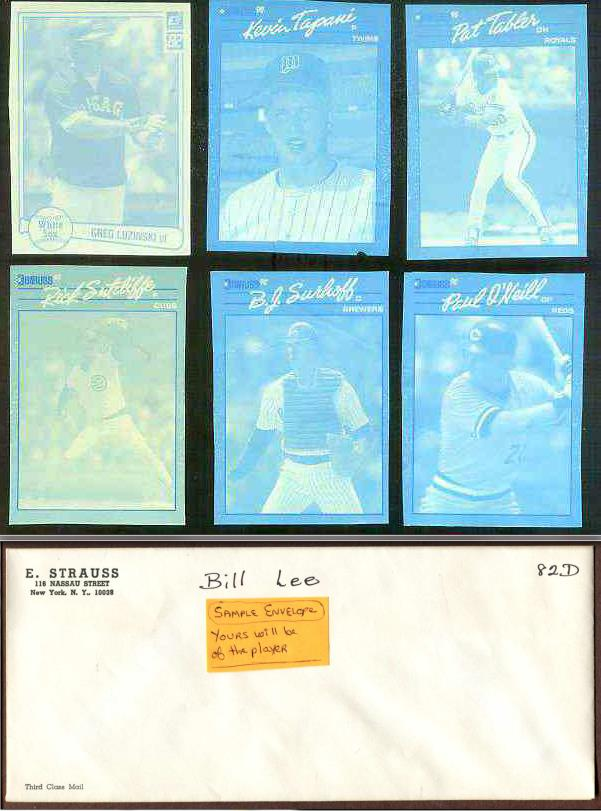 Pat Tabler - 1990 Donruss RARE Blue Color Paper PROOF Baseball cards value
