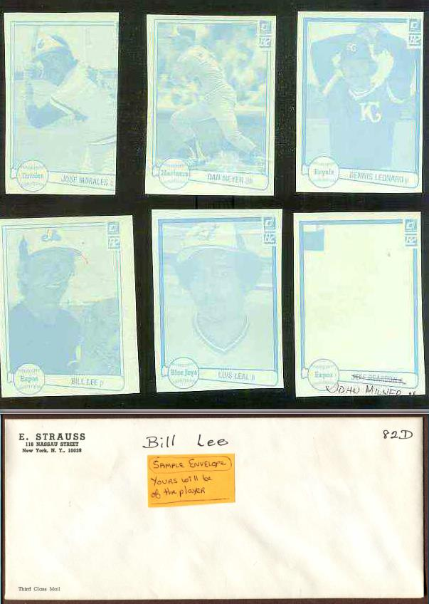 Dennis Leonard - 1982 Donruss RARE Blue Color Paper PROOF Baseball cards value