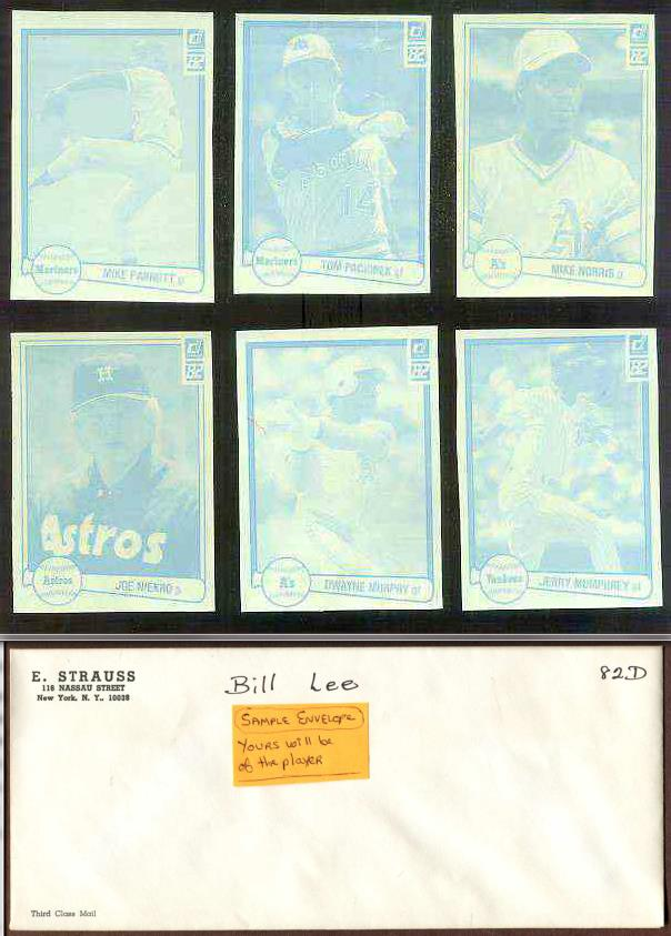 Joe Niekro - 1982 Donruss RARE Blue Color Paper PROOF Baseball cards value