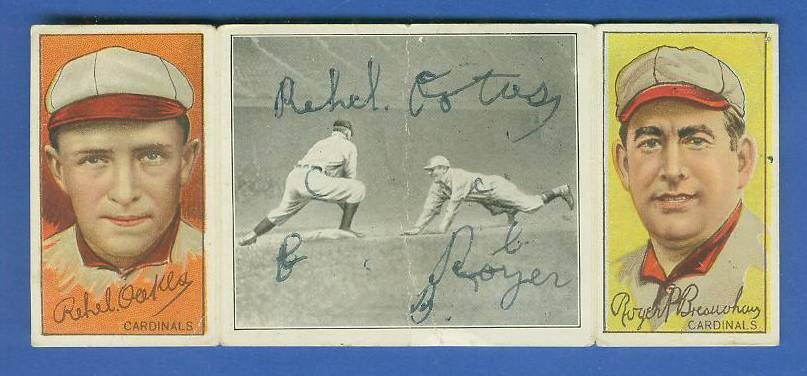 1912 Hassan Triple Folders T202 - Roger Bresnahan/Oakes Baseball cards value