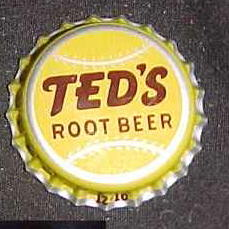 Ted Williams - Ted's Root Beer Bottle Cap Baseball cards value