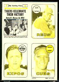 1969 Topps 4-in-1 STICKER PROOF Yellow/Black - Tigers World Series Champs Baseball cards value