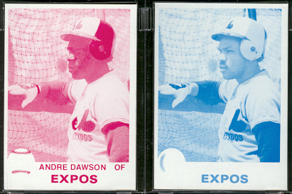 1979 Topps PROOFS Cyan & Magenta - ANDRE DAWSON (Lot of 2) Baseball cards value
