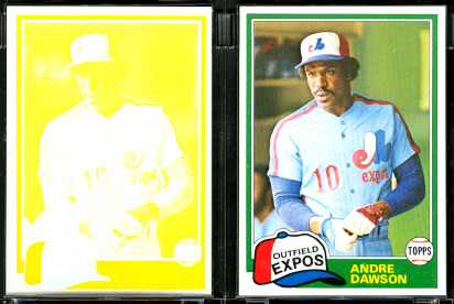 1981 Topps PROOFS - ANDRE DAWSON (Lot of 2) Baseball cards value