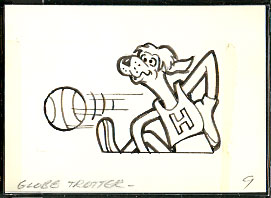 1976 Topps TV CARTOON TATTOOS ORIGINAL ARTWORK #41 Globetrotter Non-Sports cards value