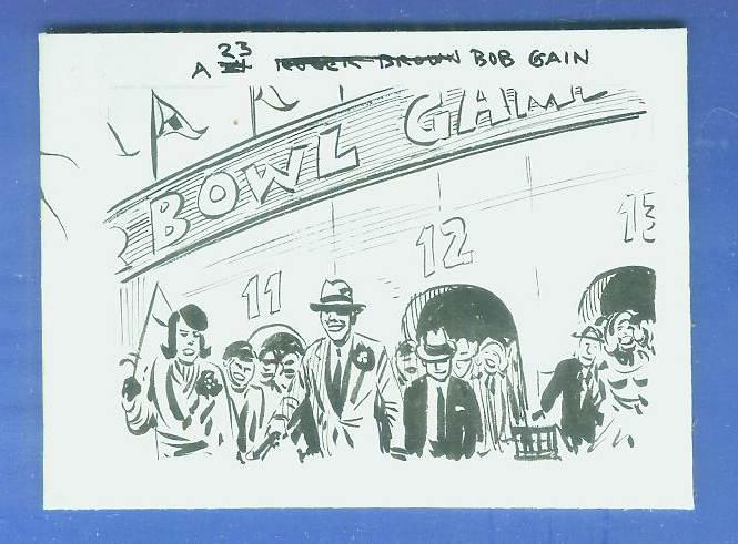 1963 Topps FB #130 Bob Gain ORIGINAL ARTWORK Football cards value