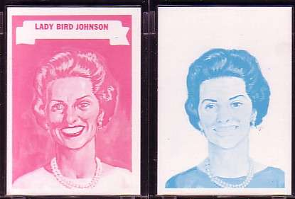 1967 Topps 'WHO AM I ?' PROOF SET - LADY BIRD JOHNSON Non-Sports cards value