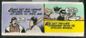 1989 Topps Big #321 Juan Samuel ORIGINAL COLOR ARTWORK Baseball cards value