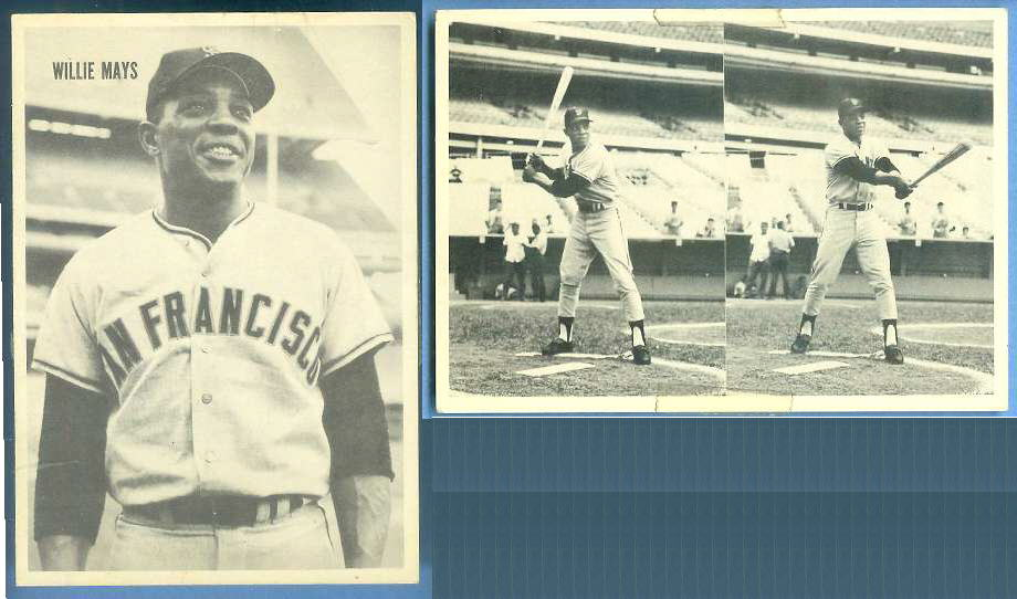 WILLIE MAYS - Interesting Unknown VINTAGE CARD (Mays batting on back) Baseball cards value