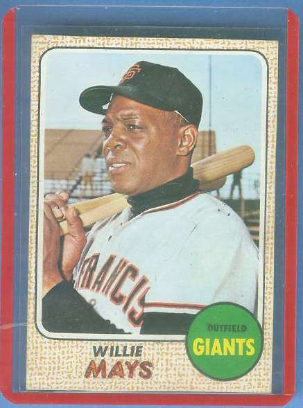 1968 Topps BLANK-BACK PROOF - WILLIE MAYS Baseball cards value