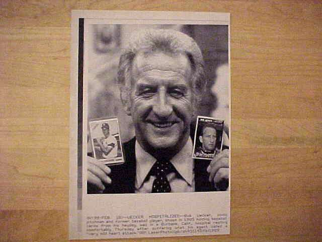 WIREPHOTO: Bob Uecker - {02/16/89} 'Uecker Hospitalized' Baseball cards value