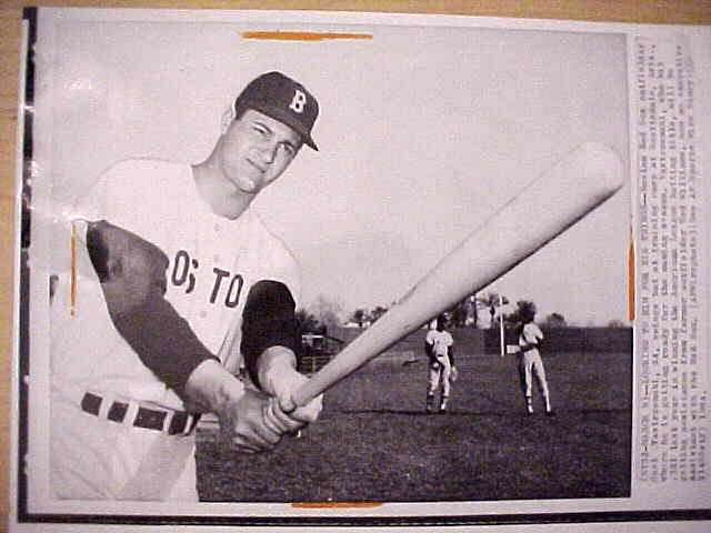 WIREPHOTO: Carl Yastrzemski - {03/09/64} 'Looking To Him For Big Things' (R Baseball cards value