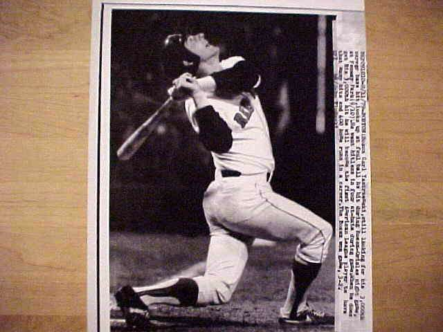 WIREPHOTO: Carl Yastrzemski - {09/11/79} 'So Close' (Red Sox) Baseball cards value