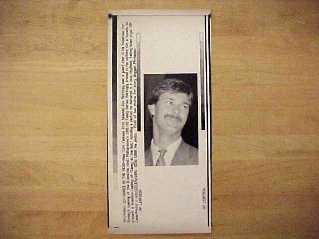 WIREPHOTO: Don Mattingly - {11/11/91} 'Names In The News' (Yankees) Baseball cards value