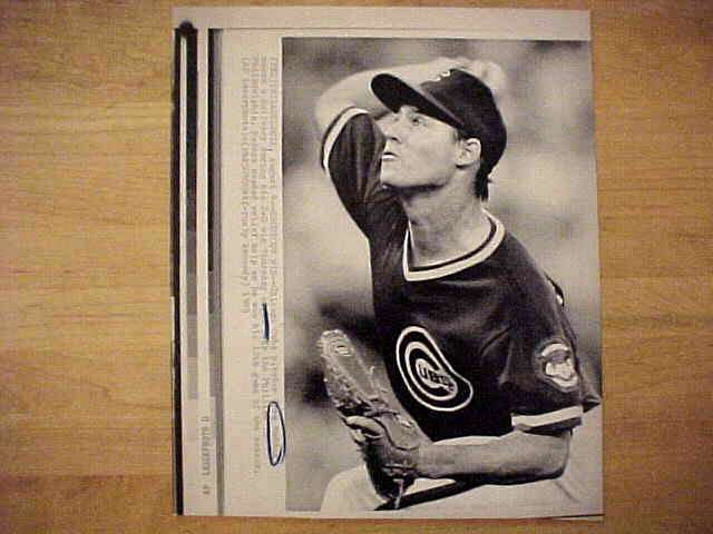 WIREPHOTO: Greg Maddux - {08/04/89} 'Shutout Win' (Cubs) Baseball cards value