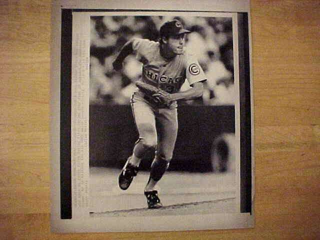 WIREPHOTO: Greg Maddux - {06/20/90} 'Covering First' (Cubs) Baseball cards value