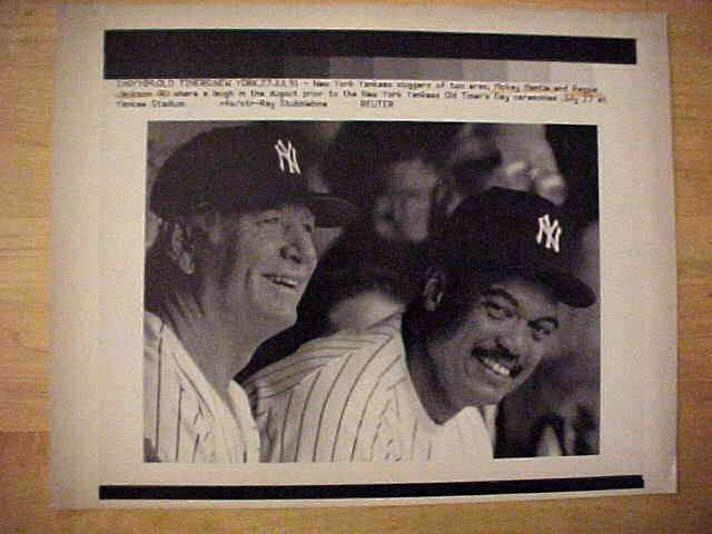 WIREPHOTO: Mickey Mantle - {07/27/91} 'Two Bombers' (Yankees) Baseball cards value