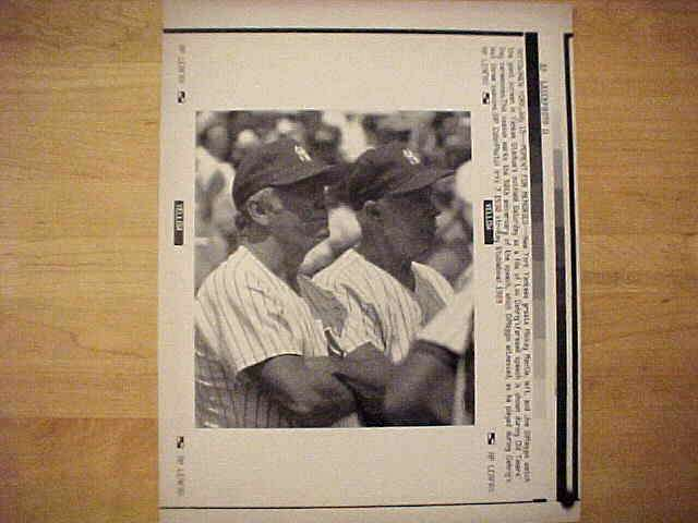 WIREPHOTO: Mickey Mantle - {07/15/89} 'Moment For Memories' (Yankees) Baseball cards value