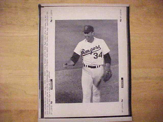 WIREPHOTO: Nolan Ryan - {05/01/91} 'Does It Again' (Rangers) Baseball cards value