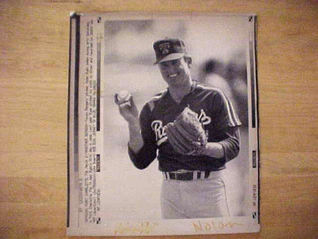 WIREPHOTO: Nolan Ryan - {03/02/91} 'Another Season' (Rangers) Baseball cards value