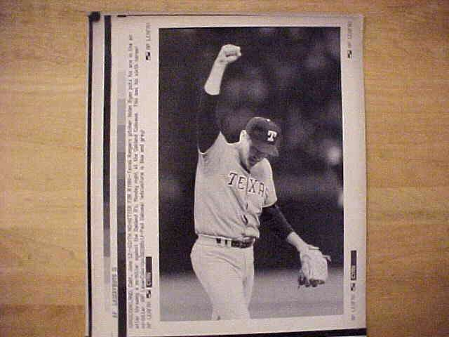 WIREPHOTO: Nolan Ryan - {06/12/90} 'Sixth No-Hitter For Ryan' (Rangers) Baseball cards value