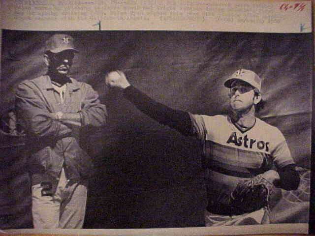 WIREPHOTO: Nolan Ryan - {02/29/80} 'New Pitcher For Astros' (Astros) Baseball cards value