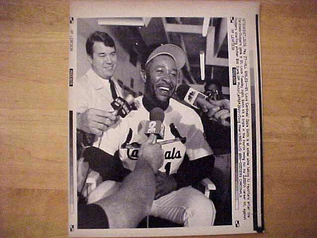 WIREPHOTO: Ozzie Smith - {05/27/92} 'All Smiles' (Cardinals) Baseball cards value