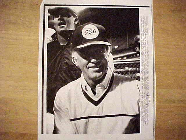 WIREPHOTO: Phil Niekro - {06/01/87} 'New Brotherly Leaders' (Indians) Baseball cards value