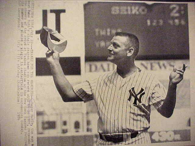 WIREPHOTO: Roger Maris - {07/22/84} 'Thanks For The Memories' (Yankees) Baseball cards value
