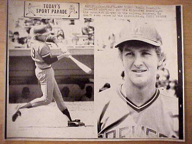 WIREPHOTO: Robin Yount - {05/14/74} 'Just Eighteen' (Brewers) Baseball cards value