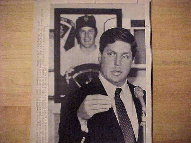 WIREPHOTO: Tom Seaver - {06/22/87} 'Seaver Retires' (Mets) Baseball cards value