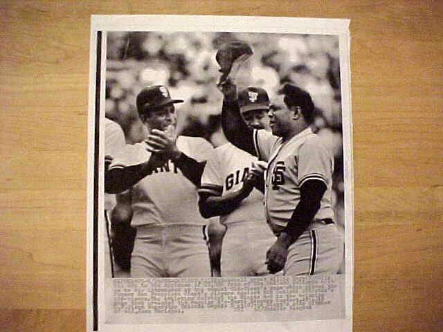 WIREPHOTO: Willie Mays - {06/14/86} 'Hat's Off' (Giants) Baseball cards value