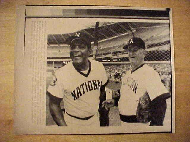 WIREPHOTO: Willie Mays - {06/23/86} 'Say Hey' (Giants/Mets) Baseball cards value