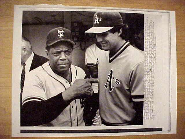 WIREPHOTO: Willie Mays - {06/15/86} 'Listen Here' (Giants) Baseball cards value