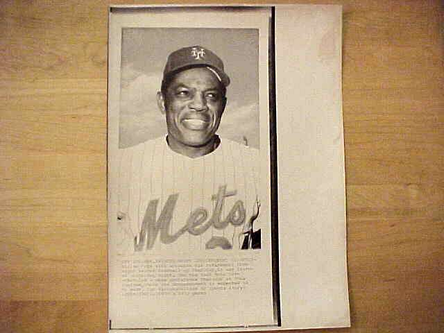 WIREPHOTO: Willie Mays - {09/19/73} 'Retirement Announcement Expected' (Met Baseball cards value