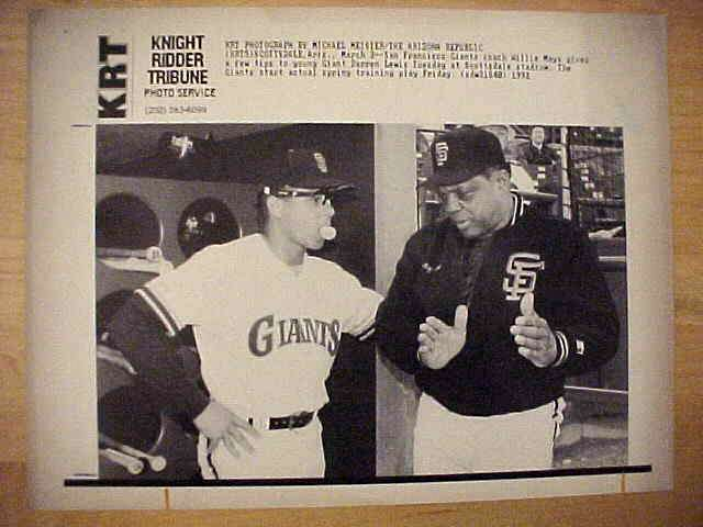 WIREPHOTO: Willie Mays - {03/03/92} 'It's Like This' (Giants) Baseball cards value