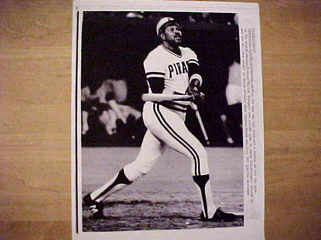 WIREPHOTO: Willie Stargell - {10/02/81} 'No Dice' (Pirates) Baseball cards value