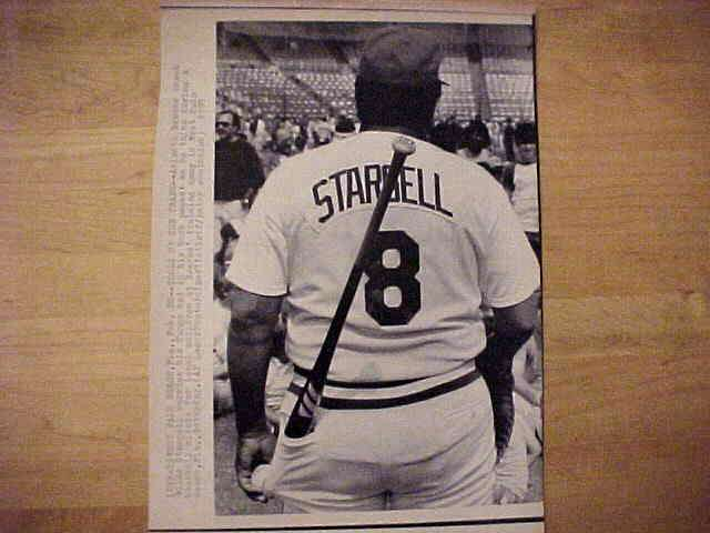 WIREPHOTO: Willie Stargell - {02/28/87} 'Tools Of The Trade' (Braves) Baseball cards value