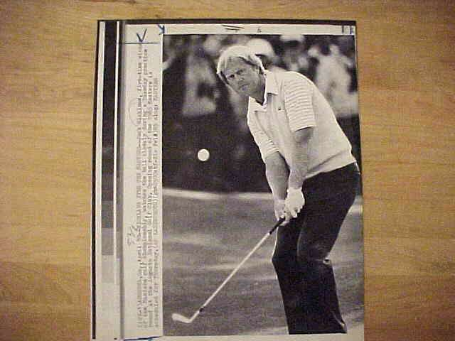 WIREPHOTO {Golf}: Jack Nicklaus - {04/10/85} 'Nicklaus Eyes The Masters' Golf cards value