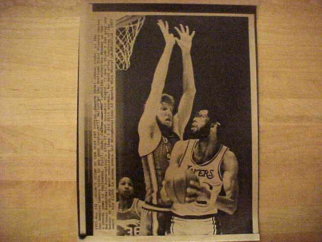 WIREPHOTO: Bill Walton - {05/24/77} 'Doesn't Think He Can Play Any Better' Basketball cards value